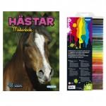 148156-07 Målarbok hästar och fiberpennor