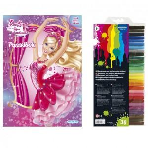 232154 Barbie pysselbok balette med fiberpennor