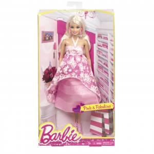 Barbie Fashion Gown Doll, ljusrosa klänning