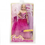 Barbie Fashion Gown Doll, rosa volangklänning