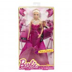 Barbie Fashion Gown Doll, ceriserosa långklänning