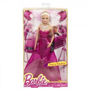 Barbie Fashion Gown Doll, ceriserosa långklänning