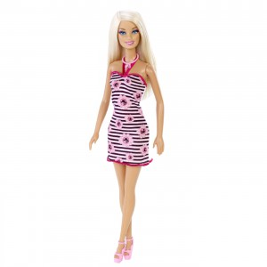 Barbie Fashion Doll Assistant, randig klänning